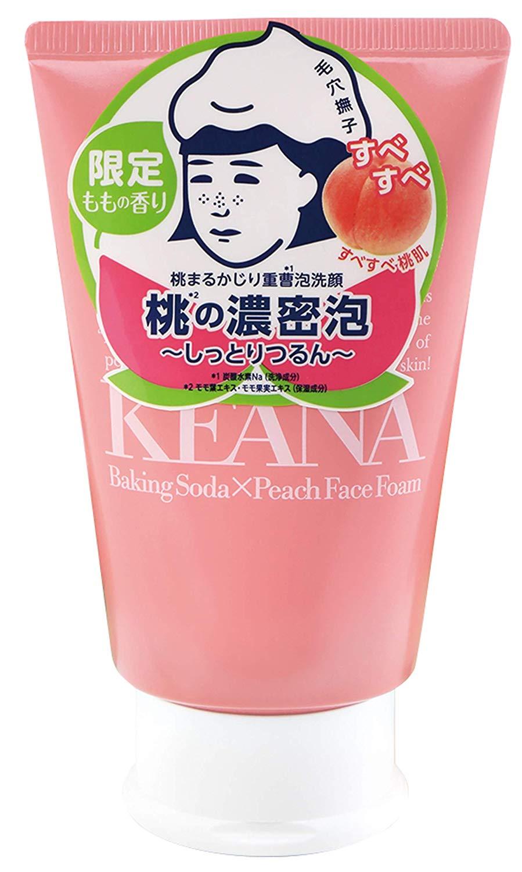 やさしい洗浄成分とモモの香り 毛穴撫子 桃まるかじり重曹泡洗顔