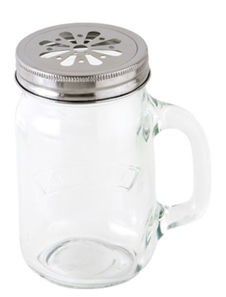 ガラスジャー HANDLE JAR 0.4L with FLOWER LID