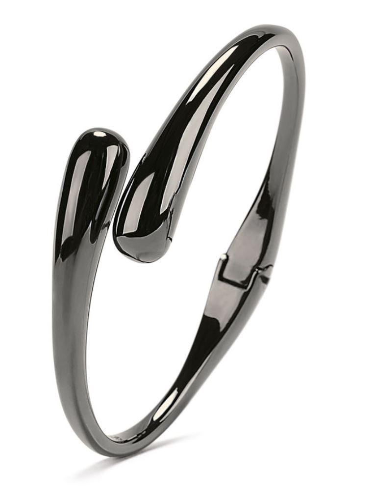 Style Drops Gun Plated Bangle Bracelet