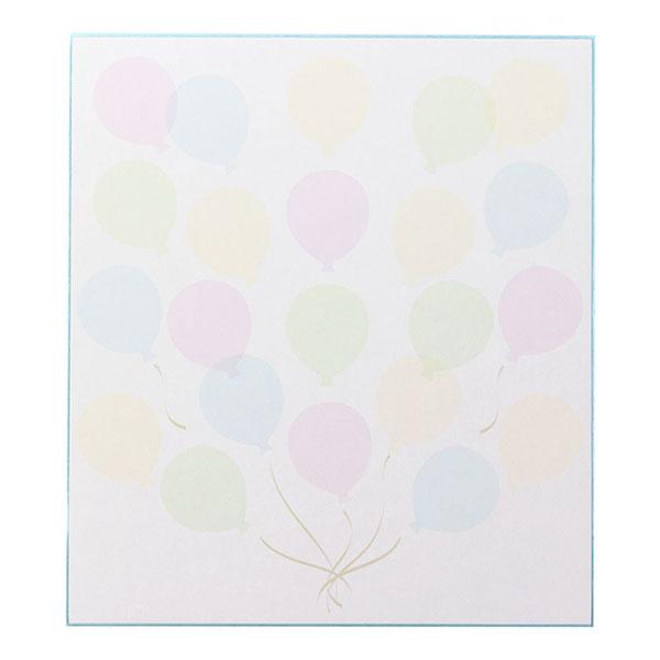 シール付 カラー色紙 半透明 風船柄