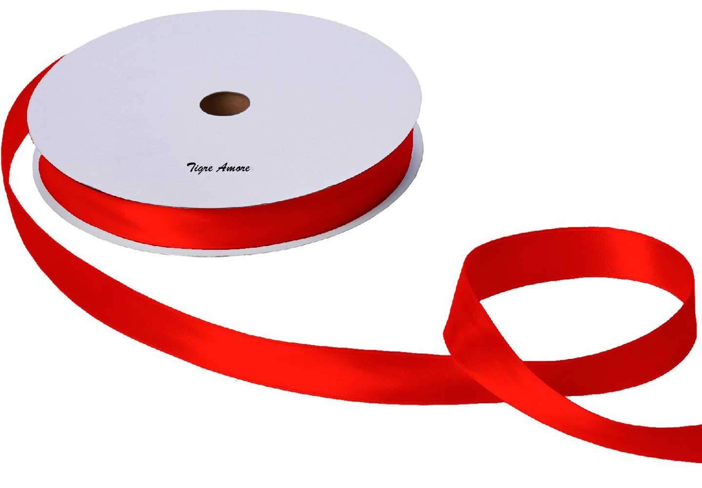 ラッピングリボン サテンリボン 赤 20mm×約85m