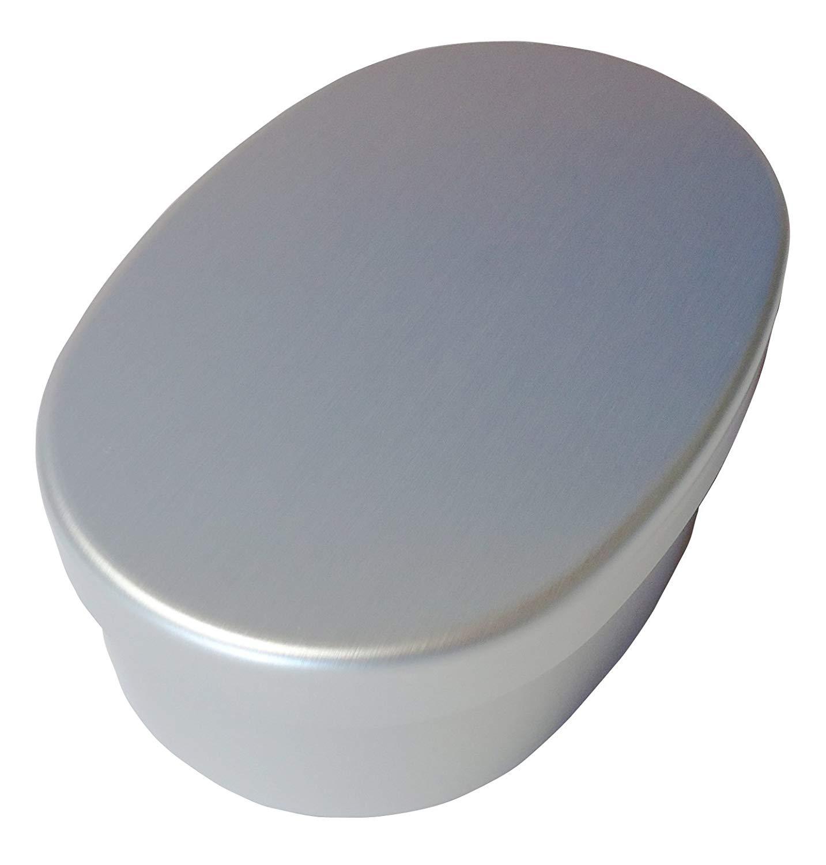 弁当箱 アルミニウム 小判型 内フタ付