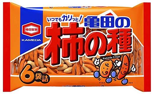 亀田の柿の種6袋詰 200g×6袋