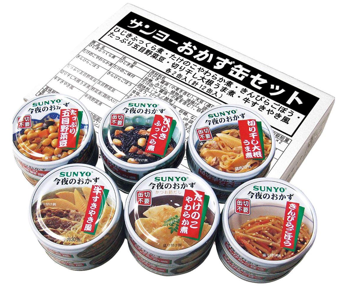 おかず缶セット 12缶入(6種×2缶入)