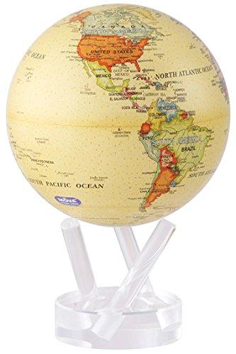 不思議な地球儀 MOVAグローブ 11cm Political Map Yellow