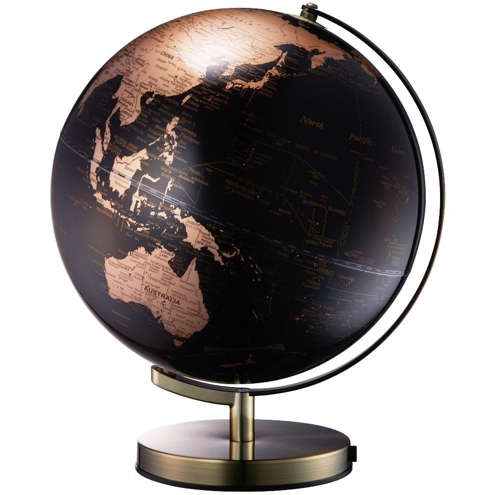 地球儀 ライティングアース 光る地球型オブジェ 球径30cm ゴールド LE-30-GL