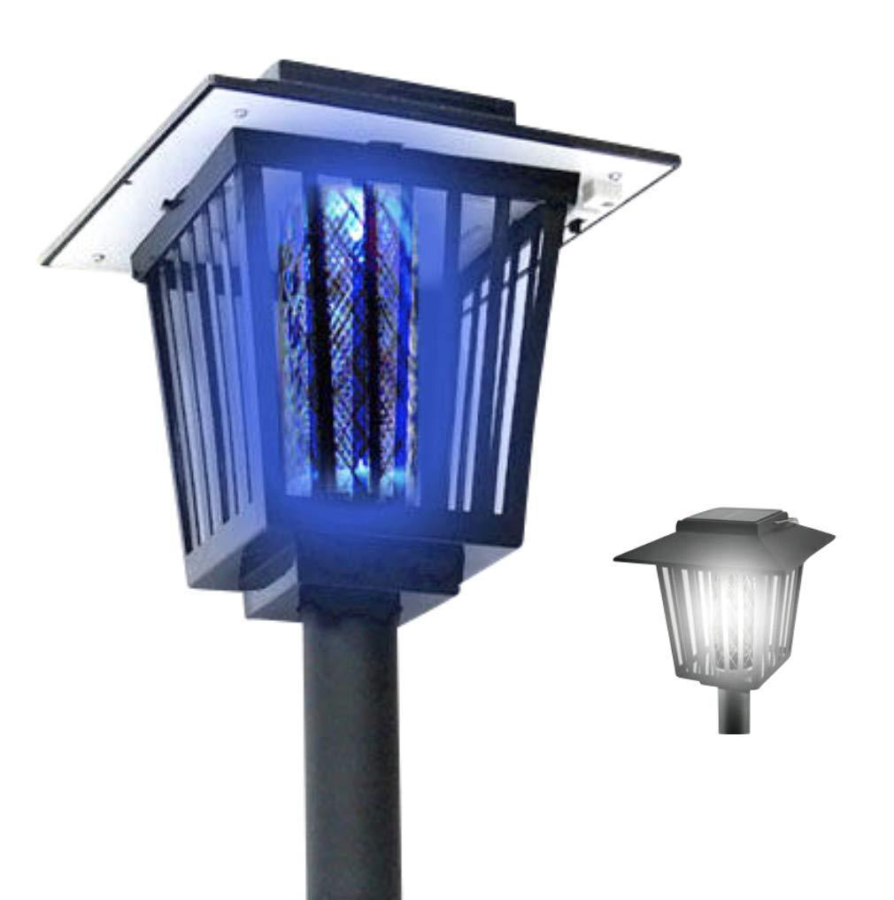 新型 2way 電撃殺虫器 LEDソーラーライト 防水 ガーデンライト 1年保証付き