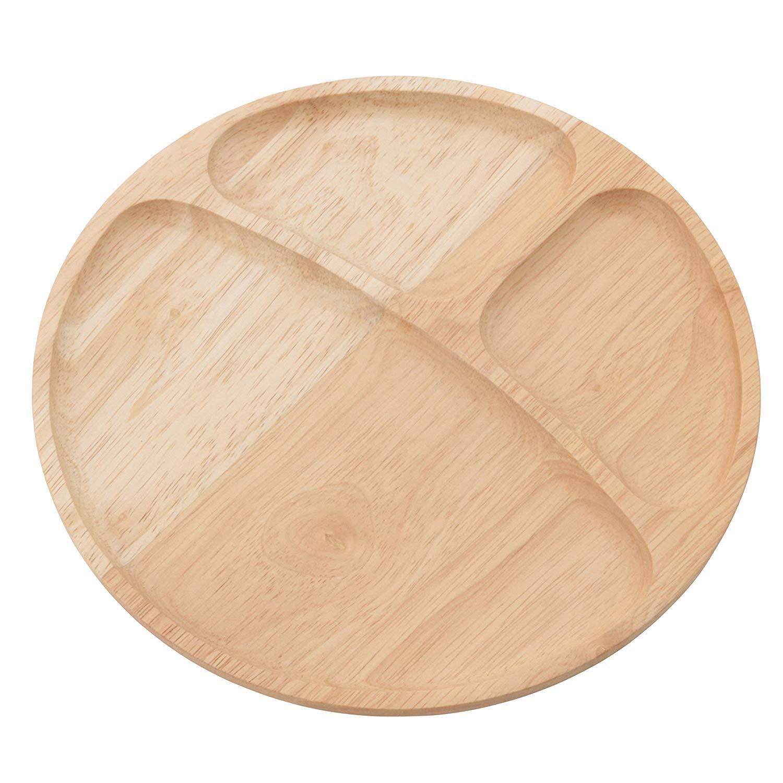 木製 キッチン雑貨シリーズ ボヌール 2 ディッシュ/ラウンド