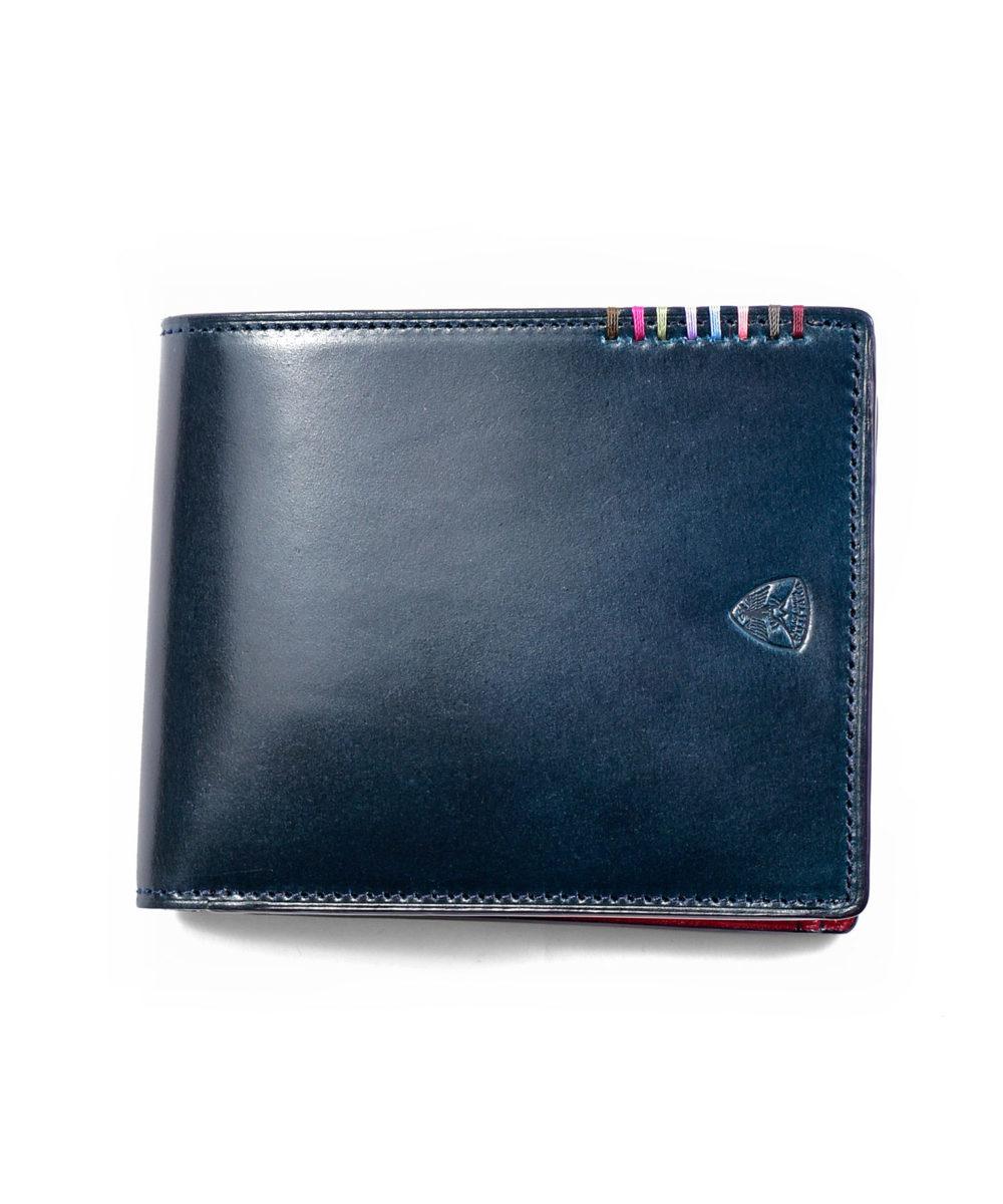 オイルコードバン フォール二つ折り財布
