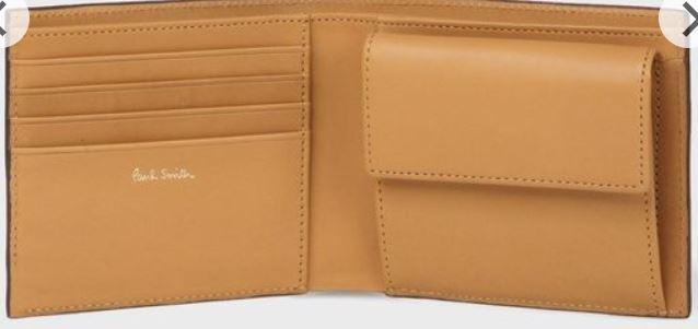 マルチストライプタブ二つ折り財布
