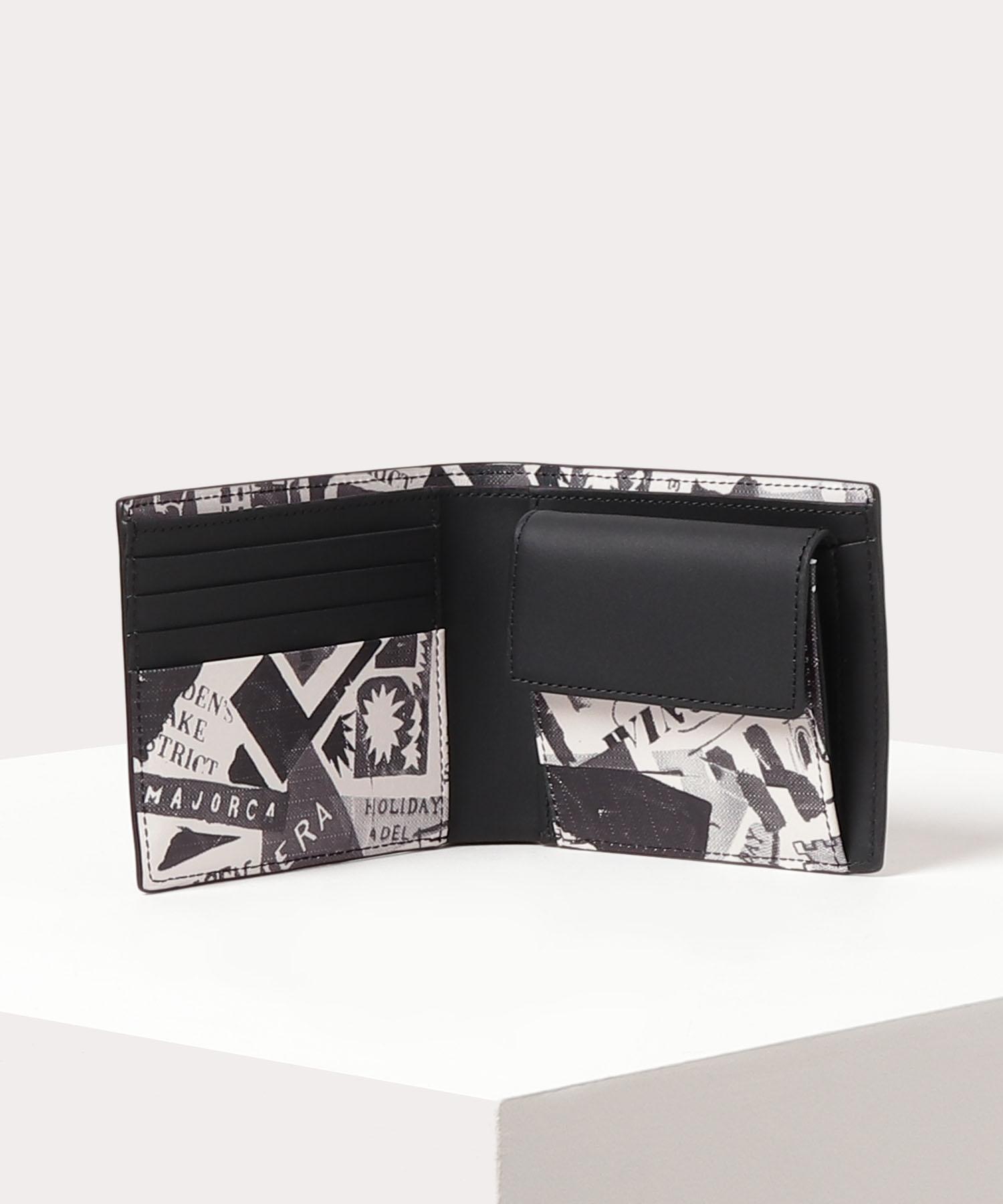 トラベルプリント二つ折り財布