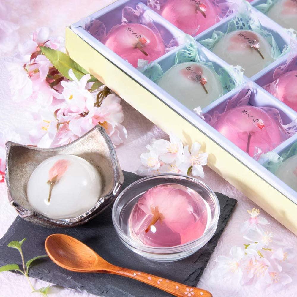京菓子 もちもち葛桜とつるるん桜ゼリー