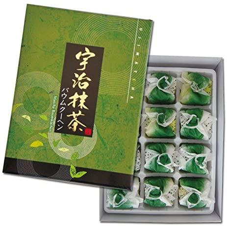 京菓子 宇治抹茶バウムクーヘン 12個入